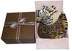Ladies Golf Animal Prints Combos - 3 Miracle Lace Ladies Golf Visors & 3 Pairs of Matching Socks