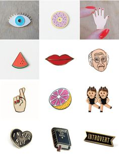32 pieces of flair – aka enamel pins – to up your jean jacket style!