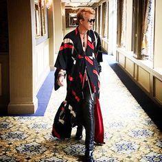 Celebrity Stylist & Lapalme Magazine Creative Director Derek Warburton seen racing through the halls of Hotel Viking on his way to Pierre Cardin's 70 year retrospective event in Newport Rhode Island