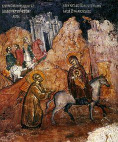 ΑΓΙΟΓΡΑΦΟΙ | paletaart - Χρώμα & Φώς Religious Paintings, Byzantine Art, Religious Icons, Orthodox Icons, Illuminated Manuscript, Christian Faith, Egypt, Nativity, Mosaics