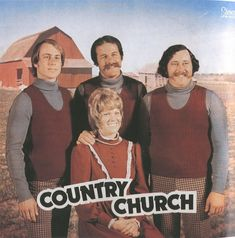 The Christian album covers date back nearly five decades and show how fashions - and society - have changed. The twee photos include bands in tank tops with identical moustaches.