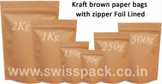 Our #PaperBags are one of the most natural looking and completely environmentally friendly forms of packaging that are used to package various products. For more information visit at http://www.swisspack.co.in/paper-bags/