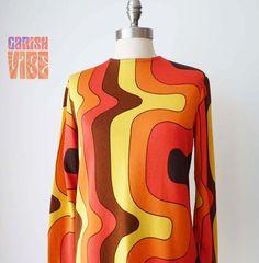 Vintage 60s Top  1960s Zio Luigi SUNSET STRIP by GarishVibeVintage
