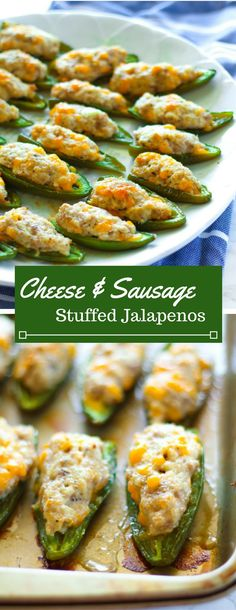 These rich and creamy three cheese and pork sausage stuffed jalapenos are sure to be crowd-pleasers at your next tailgating event!