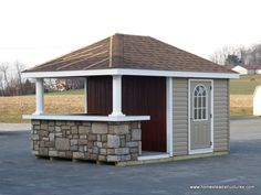 Pool Side Sheds with Bars | 10 x 14 siesta poolside bar vinyl siding this siesta poolside features ...