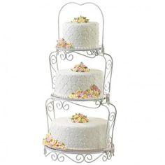 Présentoir 3 étages élégant Wilton pour la présentation de 3 gâteaux.