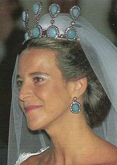 Immense turquoise tiara belonging to the Spanish aristocratic Martinez de Irujo family