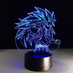 DragonBall Z Acrylic Son Goku 3D Table Lamp LED Light Decorative Lantern Gift