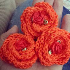 Hip met Kleur - Oranje roosjes