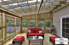 Pergola For Small Backyard Info: 2623524331 Screened Porch Designs, Screened In Patio, Patio Gazebo, Pergola With Roof, Pergola Shade, Patio Roof, Pergola Designs, Patio Design, Backyard Patio