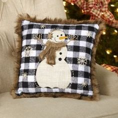 Christmas Applique, Plaid Christmas, Christmas Crafts, Christmas Pillow, Christmas Ornament, Christmas Ideas, Christmas Decorations, Wool Pillows, Throw Pillows
