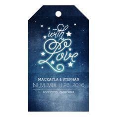 Night and Stars Romantic Wedding Gift Tags