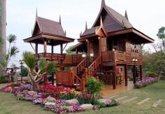 Most people dream to live in a bungalow or a high class condominium. But I prefer tolive in a traditional Thai house which is not so big and not so small. I posted the photo of traditional Thai house which I saw in Amphoe.com. There's no information on location or whether it is a museum or…