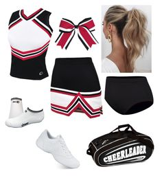 Red, Black, and White Cheer Uniform by reecelove on Polyvore featuring polyvore, fashion, style, NIKE, Love Couture, Chassè and clothing
