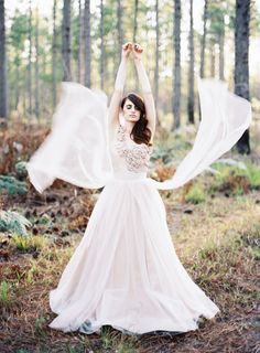blush wedding dress via Feather and Stone Photography http://featherandstone.com.au/