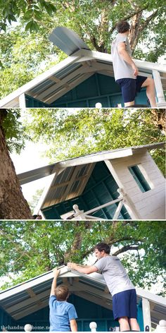 How to build a handmade hideaway part 4:  metal_roof