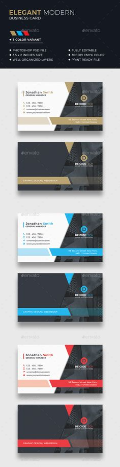 Corporate Business Card by Dkgray Corporate business card made for companies or personal use. Photos are NOT included. FEATURES 300DPI CMYK Color Print ready Horizo
