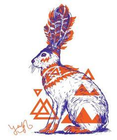 Yeohgh Rabbit / Hare Print