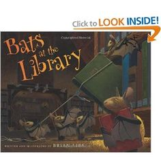Join the free-for-all fun at the public library with these book-loving bats! Shape shadows on walls, frolic in the water fountain, and roam the book-filled halls until it's time for everyone, young and old, to settle down into the enchantment of story time. Read aloud during October.