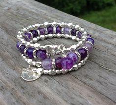 Grape Crush Purple Agate Multi Strand Memory by McHughCreations, $26.95