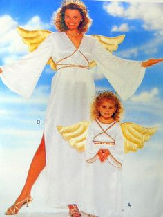 Angel Sewing Pattern Butterick 4116 Womens Child Costume All Sizes UNCUT Wings…