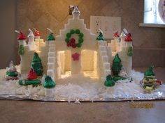 Sugar Cube Castle--Every year we make a castle of sugar cubes to keep us focused on preparing room for the coming King. No matter what your personal beliefs may be, this is such a fun and beautiful Christmas craft.  It requires about 4 boxes of sugar cubes, 2 containers of icing, and candy as desired. There are lots of design ideas on Google.  Our other tradition is to serve this to our kids and friend's kids at our New Year's Eve party. ;-) Total cost for this castle: $17