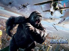 King Kong is a 2005 Action, Adventure film directed by Peter Jackson and starring Naomi Watts, Jack Black. Jack Black, Funny Dog Photos, Funny Dog Videos, Funny Pictures, Colin Hanks, Naomi Watts, King Kong 2005, Justin Bieber Jokes, Indian Funny