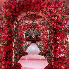 Wedding Entrance, Entrance Decor, Wedding Stage, Wedding Goals, Red Wedding, Wedding Themes, Wedding Designs, Wedding Venues, Wedding Day