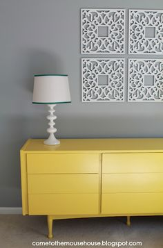 gray & yellow, possible guest room theme