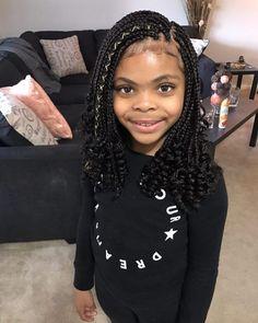 Cute Box Braids Hairstyles, Box Braids Hairstyles For Black Women, Kids Braided Hairstyles, Little Girl Hairstyles, Black Hairstyles, Teenage Hairstyles, Hair Updo, Long Hairstyle, Hairstyles 2016