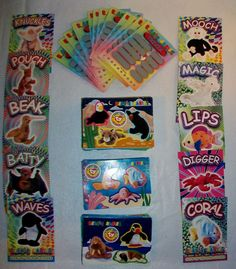 Beanie Babies 90 Trading Card Stickers 9 Glow In Dark 20 Scratch Off Trivia Lot #Ty