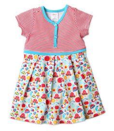 Happy Day Toddler Short Sleeve Pretty Pleats Dress #Zutano