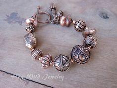 Chunky Copper Bali Style Bracelet
