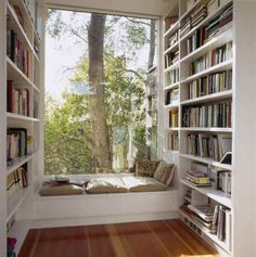 Home Library DesignYou can find Reading corners and more on our website.Home Library Design Home Library Design, Dream Home Design, My Dream Home, Home Interior Design, House Design, Library Ideas, Library Room, Dream Library, Library Organization