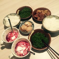 12/6 豚の角煮と煮卵とめかぶ 高いシロップ入りのヨーグルト