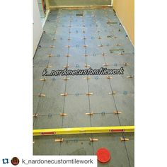 "#Repost @k_nardonecustomtilework with @repostapp.  Saturday grind 100 sq ft of 12""x 24"" Extrema black II from #interceramic Instalked using @levelingspacers #tile #tiler #tiling #tilesetter #customtile #lionslub #precisiontilework #porcelaintile #porcelain #tilerspride #tileartist #tileporn #tileaddiction #modern #interior #tiledesign #levelingspacers #instagood #porceliantile Day 13 of 24 straight days without a day off  Doing it right here. 1 per corner making it look easy. Great picture…"
