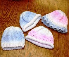 FREE DK This is a free pattern we offer at Hillcreek Yarn Shoppe for knitters to donate baby hats for Boone Hospital.