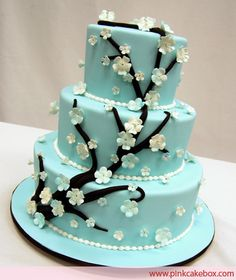 Looks like a Tiffany Wedding Cake