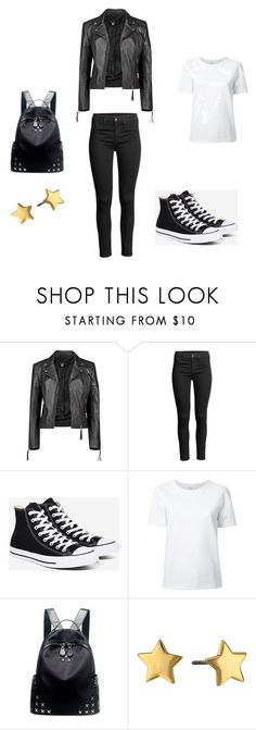 """""""Untitled #47"""" by brookeathena ❤ liked on Polyvore featuring Boohoo, Converse, Lemaire, Chicnova Fashion, Rebecca Minkoff and Leather"""