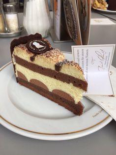 Mozart Cake In Cafe Mozart