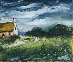 Maurice de Vlaminck (French, 1876-1958),Paysage avec maison. Gouache and brush and ink on paper laid down on canvas, 39 x 46.8 cm.
