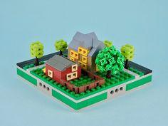 A collection of micro city blocks Lego Humor, Micro Lego, Lego Club, Lego Pictures, Lego Builder, Lego Games, Lego Castle, Lego Room, Lego Storage
