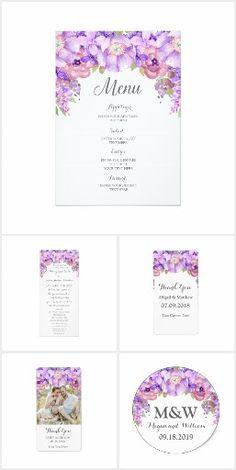Lilac Lavender Purple Wedding Invitation Set | Violet purple wedding colors | Floral garden wedding.