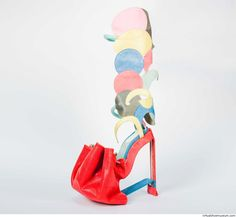 Part of the London College of Fashion Masters final collection  'Upside down', 2013. The research was about ancient Greek footwear and techniques in footwear manufacturing different than the usual/tra