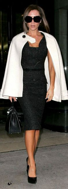 Purse – Hermes Kelly bag  Sunglasses – Dvb '6' Sunglasses In Black  Dress – Antonio Berardi Dress  Shoes – Balenciaga court shoes