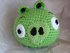Huge Piggie from Angry Birds. 8 inches high. www.brownbagcreations.makes.it