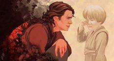 Be brave by Aquila--Audax on DeviantArt Anakin Vader, Anakin And Padme, Darth Vader, Star Wars Watch, Star Trek, Aquila Audax, Young Anakin Skywalker, Saga, Star Wars Fan Art