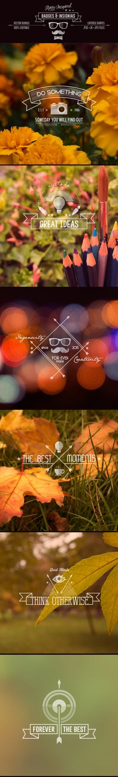 Retro Inspired Badges & Insignia by Stella Caraman, via Behance  B E A U T I F U L