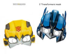 Amazing  Transformers Printable Masks,transformers prime,party mask,robot,birthday,decoration,photo booth prop,paper goods,rescue bots