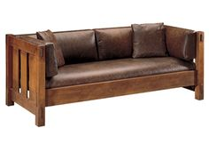 Stickley - 89-208 SETTLE WITH BACK CUSHION